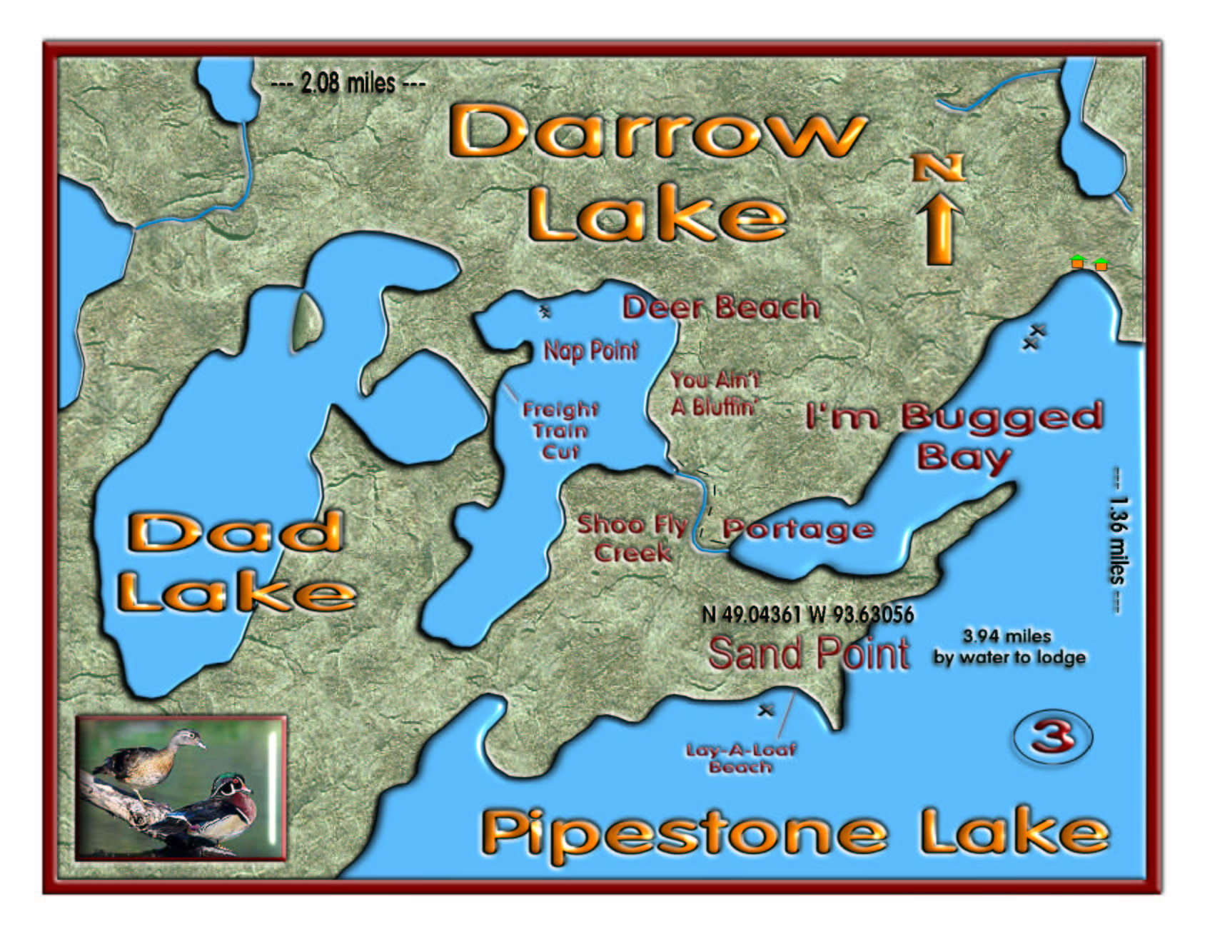 Darrow Lake map