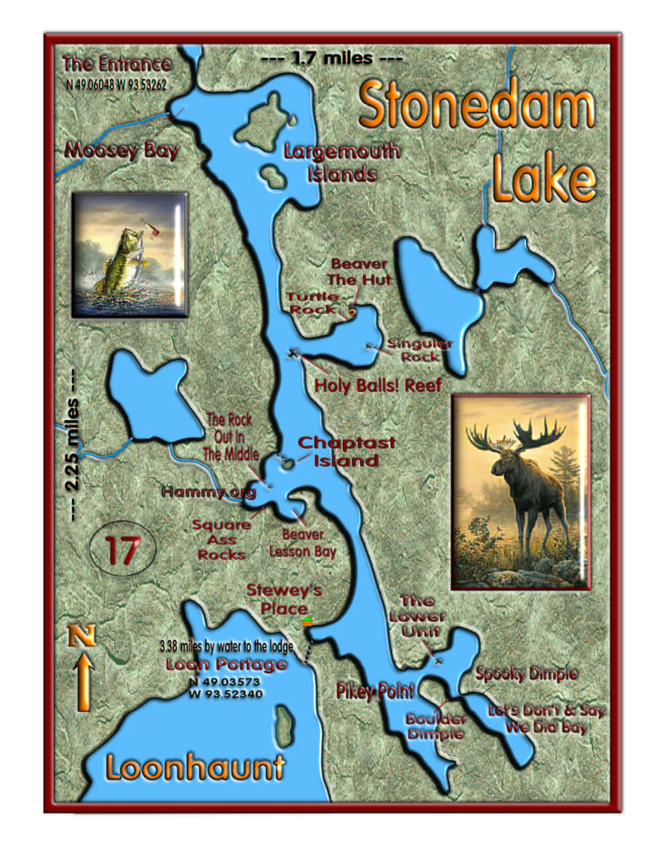Stonedam Lake map
