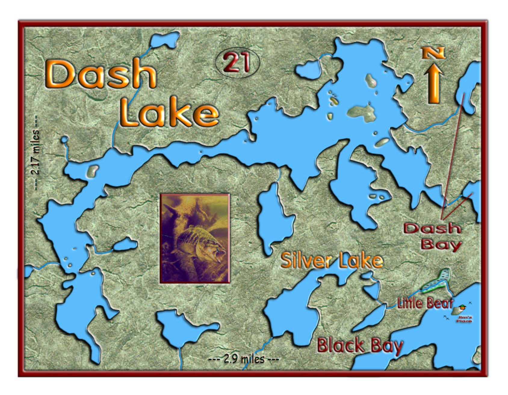 Dash Lake map