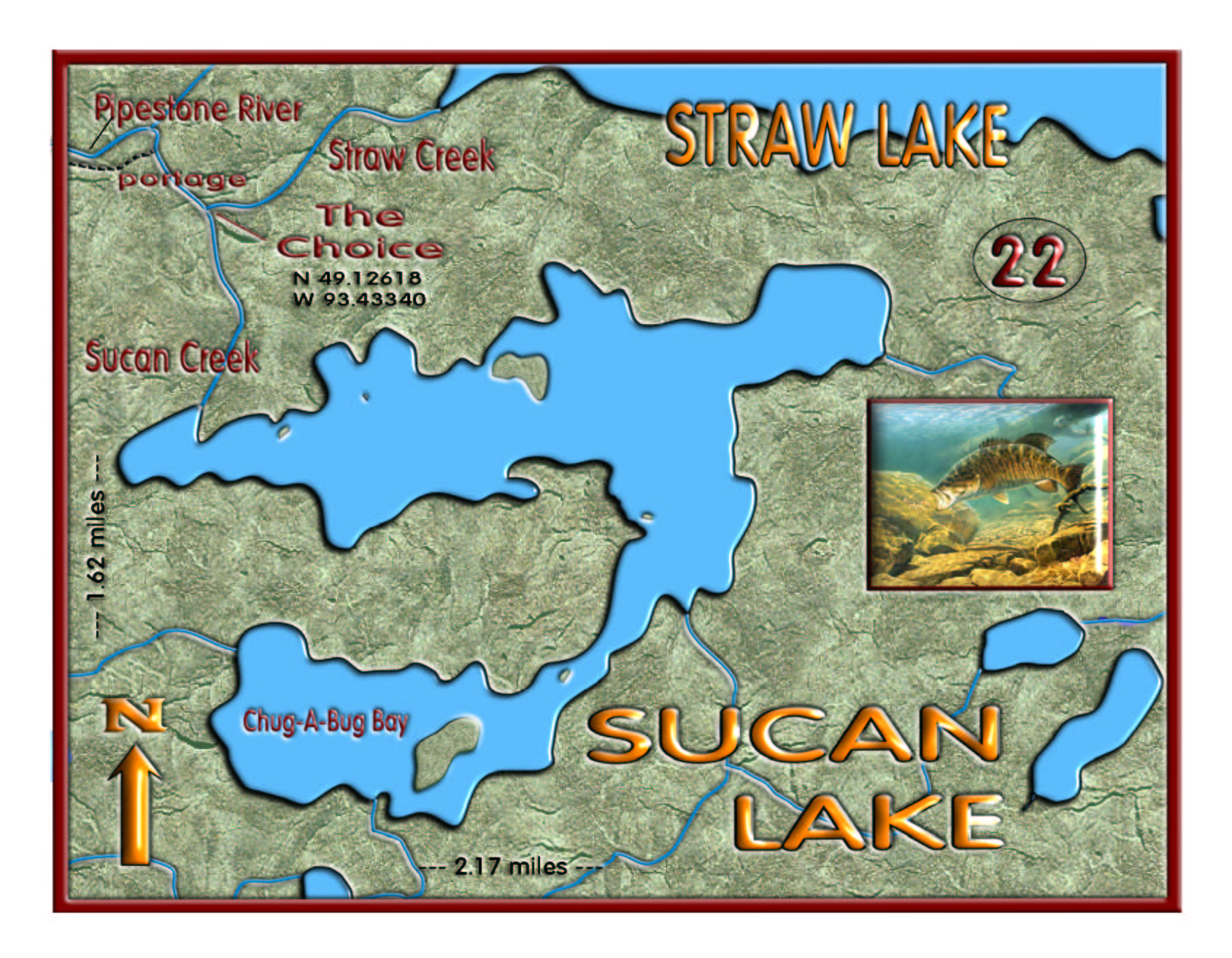 Sucan Lake map