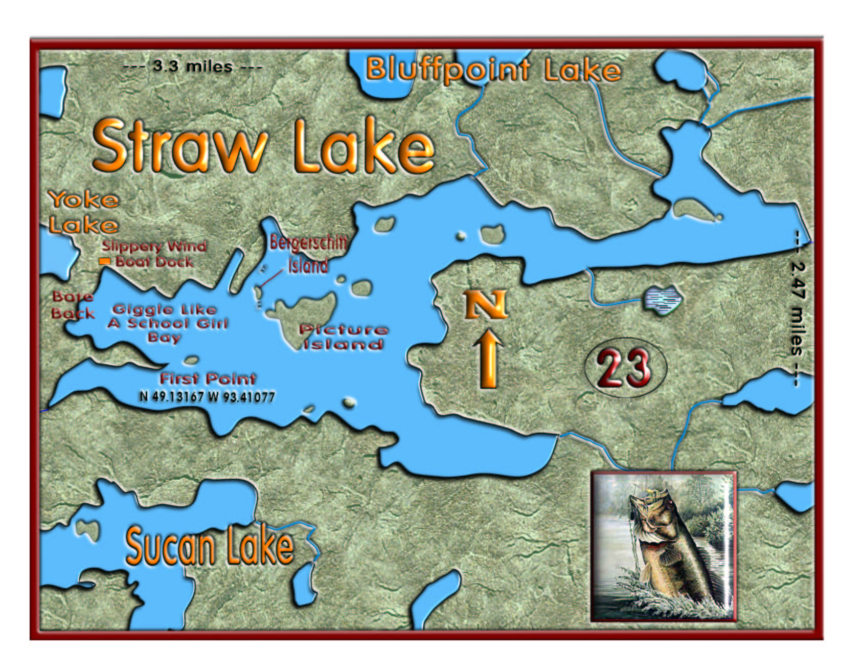 Straw Lake map