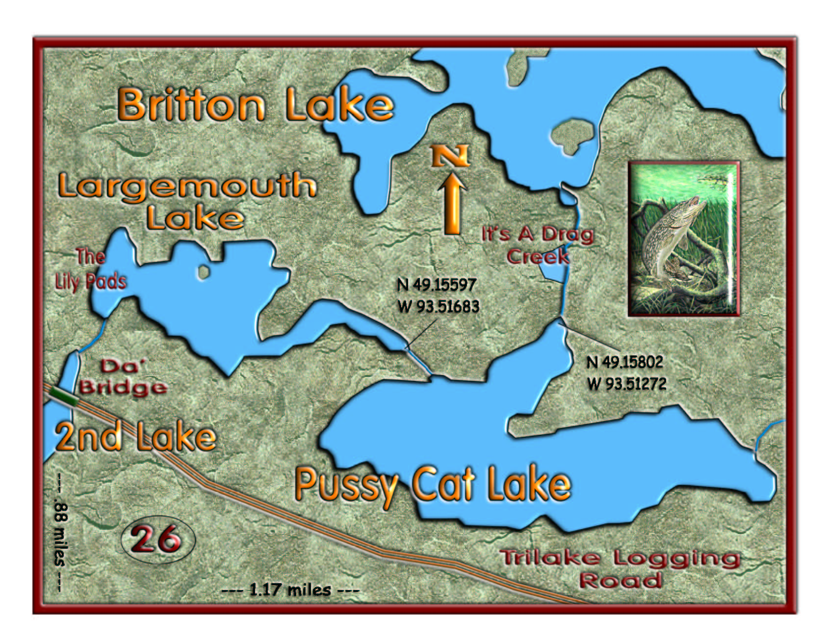Britton Chain, Largemouth & Pussycat map