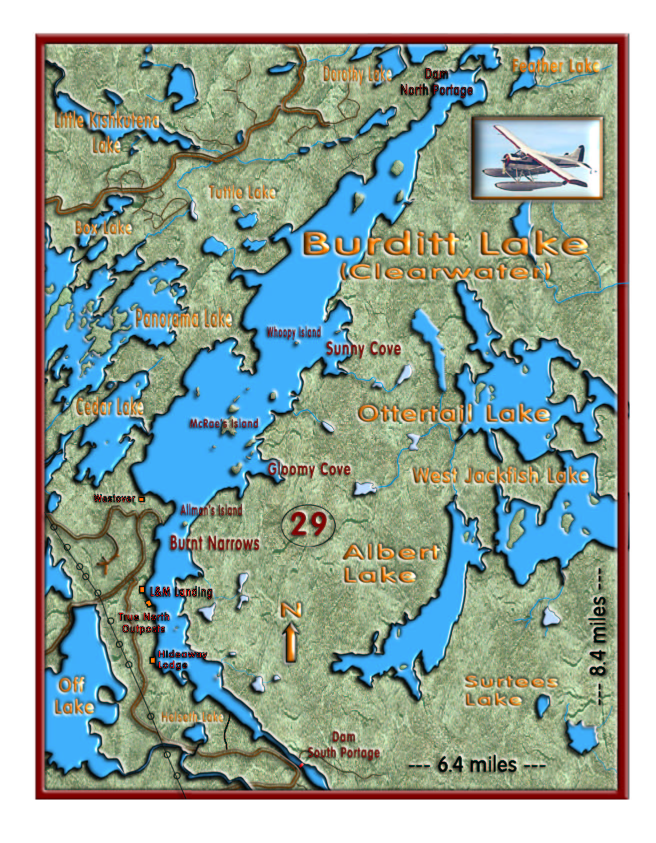 Clearwater Lake map