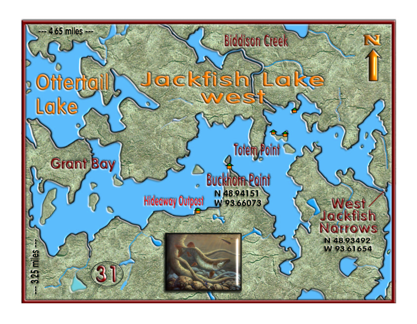 Jackfish Lake West map